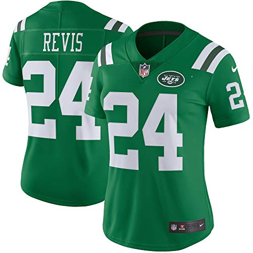 Nike Women's Large Darrelle Revis New York Jets Color Rush Limited Jersey - Green ()