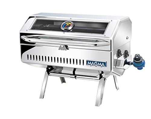 Grill Gourmet Series (Magma Products, A10-918-2GS Newport 2 Infra Red Gourmet Series Gas Grill, Polished Stainless Steel)