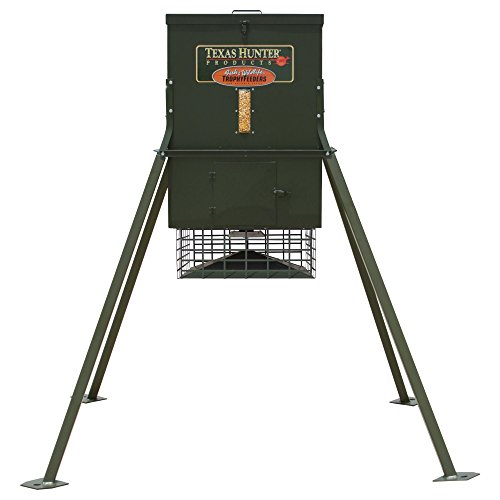 Texas Hunter Stand and Fill Wildlife & Deer Feeder w/ 4-Foot...