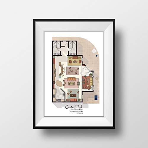 Central Perk Cafe Floor Plan - Friends