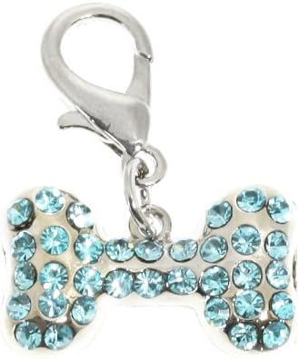 urbanpup Swarovski collar de hueso pulsera (Aguamarina cristales)