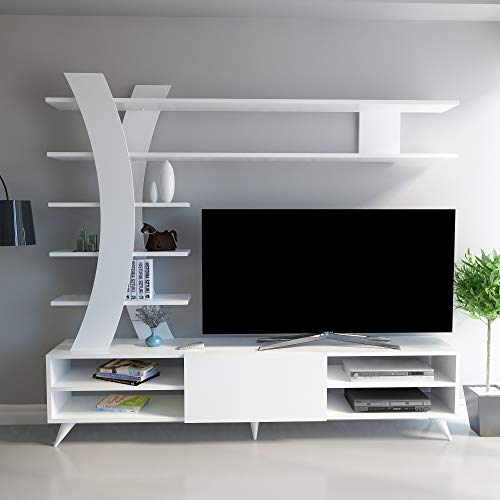 Decorotika New York TV Stand and Entertainment Center for TVs up to 55