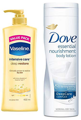 Vaseline Intensive Care Deep Restore Body Lotion 400 Ml Dove Essential Nourishment Body Lotion 400ml Buy Online In Kuwait Vaseline Products In Kuwait See Prices Reviews And Free