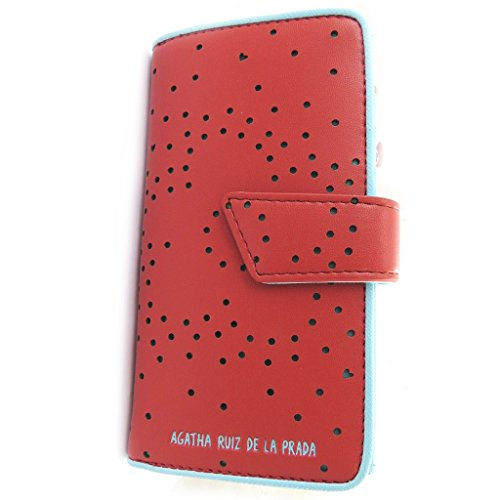 Wallet 'Agatha Ruiz De La Prada'red - perforated hearts (m).