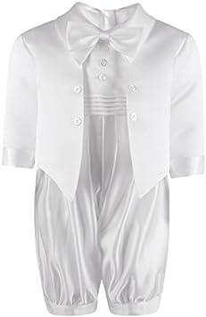 Traje para bebé, para bautismo, color blanco/crema, con moño y ...