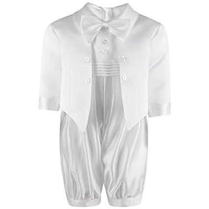 2137a34ad Traje para bebé, para bautismo, color blanco/crema, con moñ