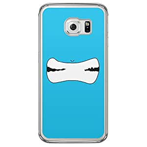 Loud Universe Samsung Galaxy S6 Edge Smileys 13 Printed Transparent Edge Case - Blue