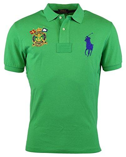 Polo Ralph Lauren Men's Classic-Fit Nautical-Crest Polo Shirt, Stem Green, XL (Crest Polo Mens)