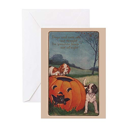 CafePress Vintage Halloween Card Greeting Card, Note Card, Birthday Card, Blank Inside Glossy]()