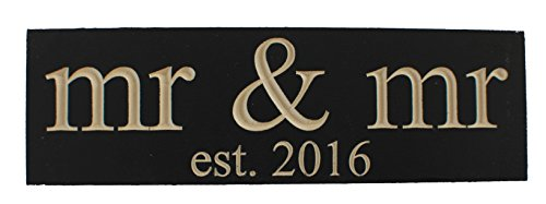 Mr.  Mr. Est 2016 Gay Wedding Decoration Vintage CARVED Wood Sign Handmade Gift or NewlyWed Wall Decor — SOLID RECLAIMED WOOD – UNIQUE WEDDING GIFT …