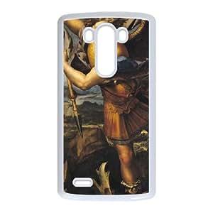 LG G3 Cell Phone Case White St. Michael Overcoming the Demon SLI_589561