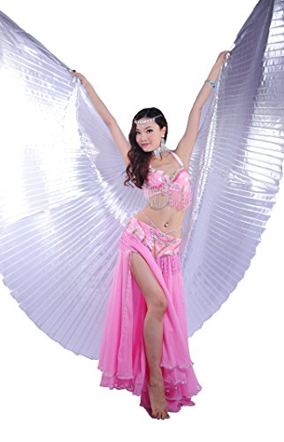 Dance ventre del da Bianco Tofern Belly danza egiziano Vestito Women's Noble indiano Wings Butterfly wnSqv1