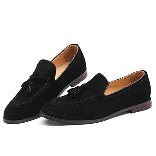 Sencillos Gamuza Yellow Negocios Sneerrt Zapatos Hombres Con Mocasines Calzado Sin Informal Borla Pisos Loafers De Para Cordones E4wffBqv
