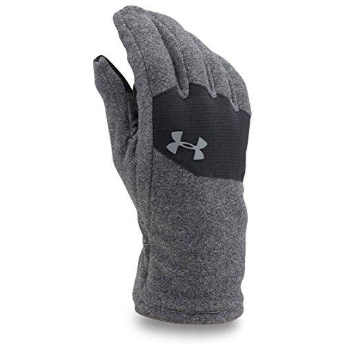 Under Armour Men's ColdGear Infrared Fleece Gloves, Black/Black, Small (Under Armour Touch Screen Gloves)