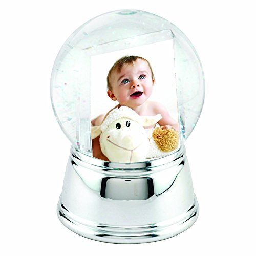 Photo Snow Globe with Silver Base Picture Of Snow