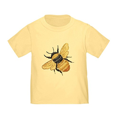 CafePress - Bumble Bee (Front Only) - Cute Toddler T-Shirt, 100% Cotton (Only T-shirts Yellow Front)