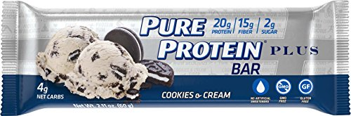 Pure Protein® PLUS Cookies & Cream, 60 gram, 6 count