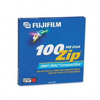 Fuji® IBM/Mac Compatible Zip® Disks DISC,ZIP 100 DUAL FORMAT (Pack of8) by TONERC