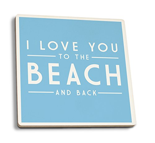 I Love You to the Beach and Back - Simply Said (Set of 4 Ceramic Coasters - Cork-backed, ()