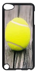 iPod Touch 5 Cases & Covers -Yellow Tennis Ball On Wooden Boards Custom PC Hard Case Cover for iPod Touch 5 ¨CTransparent