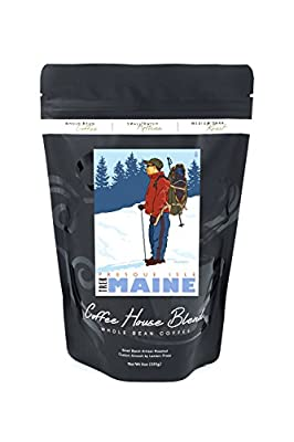 Snow Hiker - Presque Isle, Maine (8oz Whole Bean Small Batch Artisan Coffee - Bold & Strong Medium Dark Roast w/ Artwork)