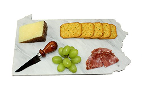 Pennsylvania Carrara White Marble Cheese Board for sale  Delivered anywhere in USA