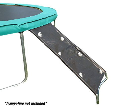 Wide 3-Step Trampoline Ladder With Safety Latch