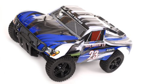 1 10 2.4Ghz Exceed RC Electric Rally Monster RTR Off Road Rally Truck Stripe Blue