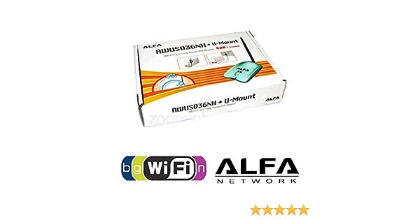 USB Alta Potencia wifi 2000 mW 802.11BGN ALFA AWUS036NH 2W RALINK 3070