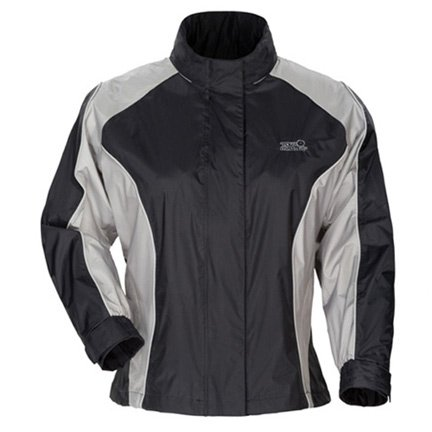 Sentinel Womens Rainsuit Jackets - Tourmaster Sentinel Womens Black Rainsuit Jacket - Plus Small