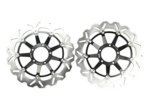1 Pair Racing Sport Motorcycle Bearing brake rotor disc Fit for DUCATI 848 EVO 850 11 FRONT - L / R Black