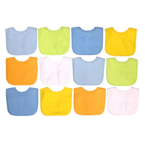 Boy 12 Pack Water Resistant Bib Set by Neat Solutions