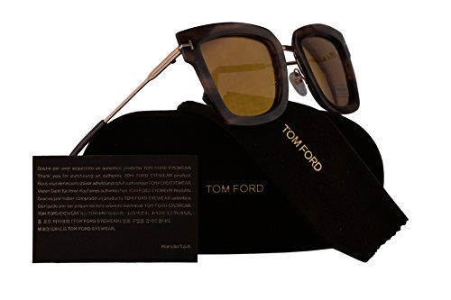 Tom Ford FT0573 Lara-02 Sunglasses Havana w/Brown Mirror Lens 55Z - Ford Sunglasses Alicia Tom