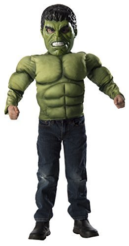 Imagine by Rubie's Costume Avengers Age of Ultron Hulk Muscle Chest Shirt Set (Hulk Costumes For Kids)