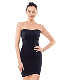 MD Women's Shapewear Strapless Firm Tummy Control Full Length Slip Body Shaper