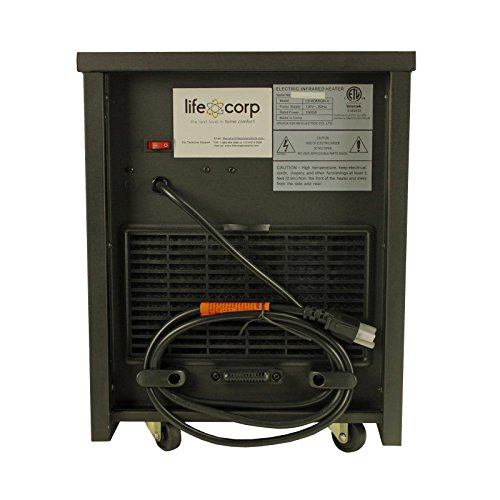 lifesmart large room 6 element infrared heater w remote. Black Bedroom Furniture Sets. Home Design Ideas