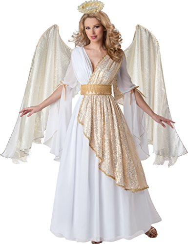 Fun World InCharacter Costumes Women's Heavenly Angel Costume, White/Gold, Large
