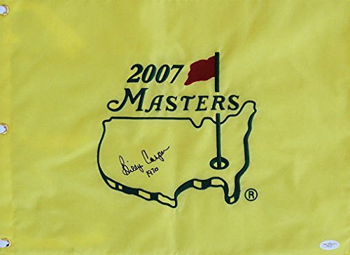 (Billy Casper Autographed Signed 1970 Masters Flag Autographed Signed JSA - Certified Authentic)