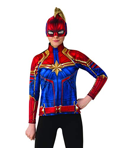 Marvel Female Heroes (Rubie's Women's Captain Marvel Hero Top and Headpiece, as as Shown,)