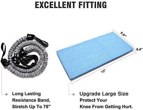 Odoland 3-In-1 AB Wheel Roller Kit AB Roller Pro with Resistant Band,Knee Pad,Anti-Slip Handles,Storage Bag and Training Program - Perfect Abdominal Core Carver Fitness Workout for Abs 7