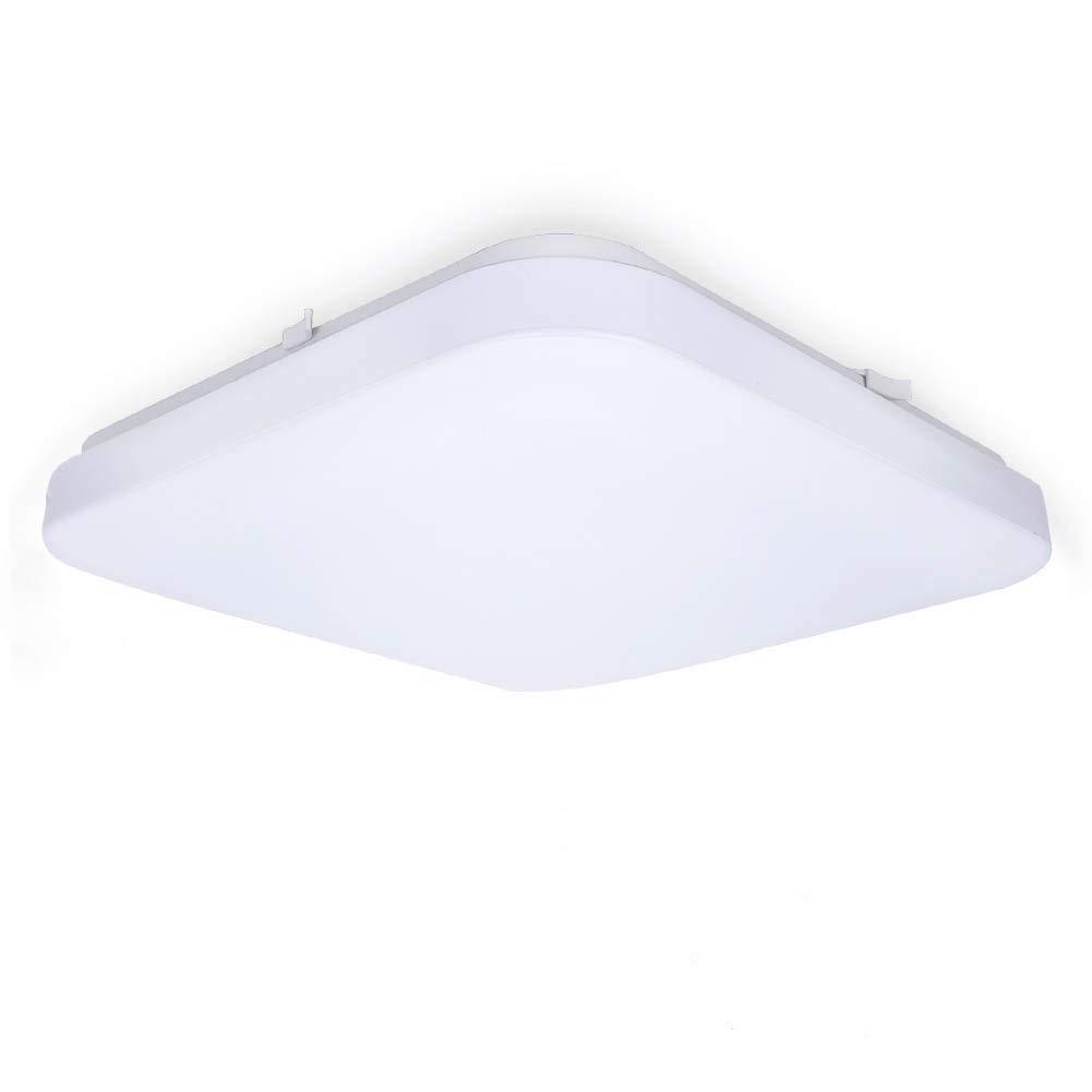 LED Deckenlampe, Tonffi 24W LED Deckenleuchte Wohnzimmerlampe Esszimmerleuchte Badleuchte Feuchtraumleuchte Kellerleuchte Rechteck [Energieklasse A+]