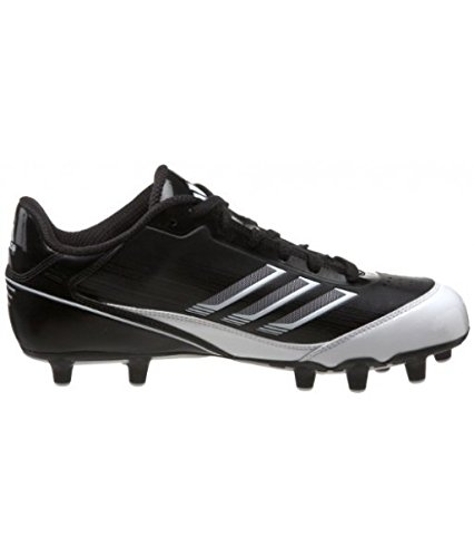 adidas Men's Scorch X SuperFly Low Football Cleat,Black/White/Metallic Silver,12.5 M US