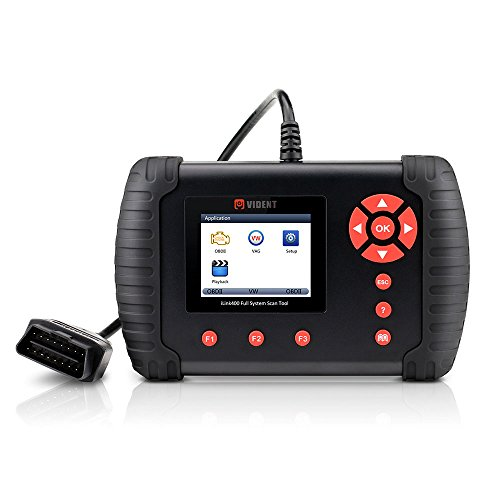 VIDENT iLink400 Auto Multi-System Scan Tool OBDII Support ABS/SRS/EPB/Transmission Diagnostic DPF Regeneration/Oil Reset Coding Battery ()