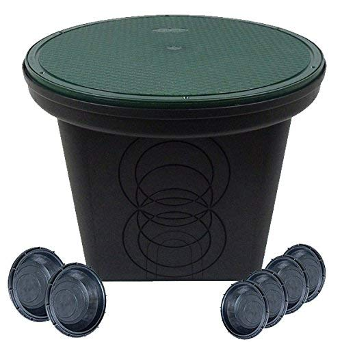 StormDrain FSD-3017-20SKIT-6 20-in. Round Catch Basin Drain with Solid Lid Kit