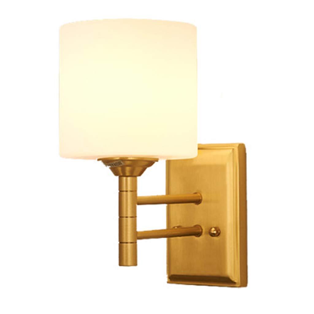 アメリカのフル銅の壁ランプ、曇りガラスの寝室のリビングルームの壁のベッド、室内照明を通って歩いた B07TMDKQZ7