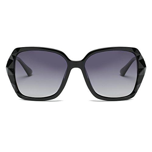 Amomoma Womens Classic Oversized Sunglasses with Rhinestones AM2008 AM2001 AM2019
