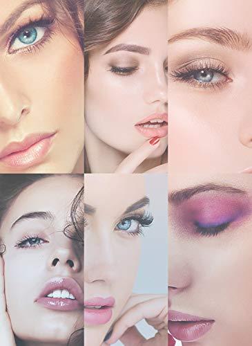 [8 Pairs] Magnetic Eyelashe with Magnetic Eyeliner Kit, LANVIER Reusable 3-d False Eyelashes Lashes Extension with 2 Tubes of Eyeliner - Black