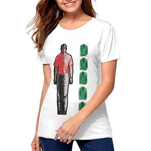 (Tiger 5 Jackets Graphic Tee, Tiger Woods 2019 Masters Champion, 1997, 2001, 2002, 2005, 2019 Championships Womans T-Shirt White)