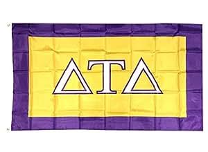 Delta Tau Delta capítulo de la Fraternidad bandera 3x 5poliéster uso como un banner Delts