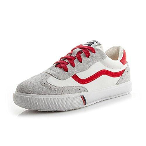 Zapatos Casuales de Las Mujeres Zapatos Planos nuevos de la Primavera, Zapatos de la Plataforma con Cordones Respirables de la Academia Un